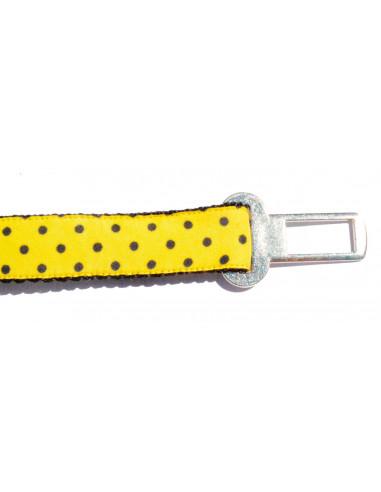 Cinto Seguridad Auto Perro LunarPre Amarillo