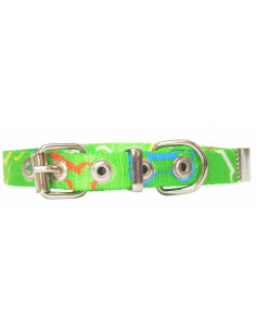 Collar Perro Huesito 1,5 cm Verde