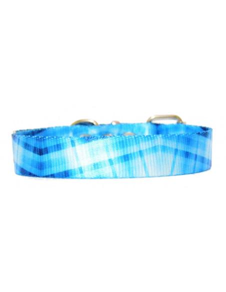 Collar Perro Cuadrille 2 cm Azul