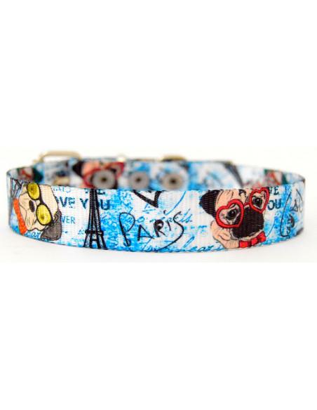Collar Perro Dog 2 cm Azul