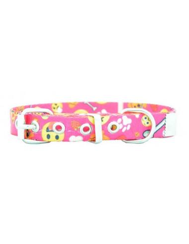 Collar Perro Emoji 1,5 cm Fucsia