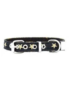 Collar Perro  Stars 1,5 cm  Negro