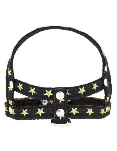 Pretal Perro Stars 1,5 cm Negro