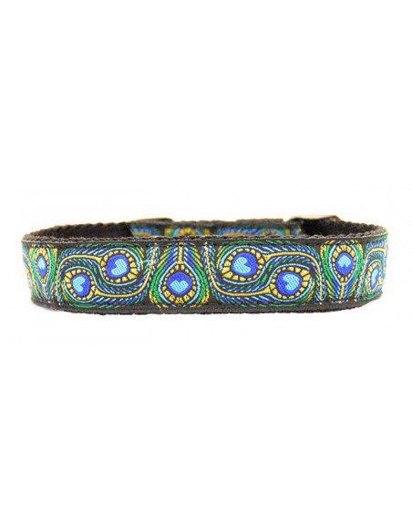 Collar Perro Elegancy 2,5 cm Azul