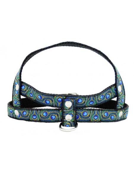 Pretal Perro Elegancy 2,5 cm Azul